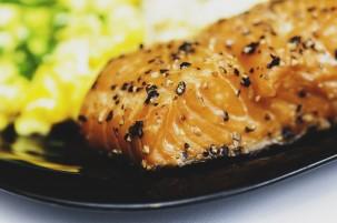Saumon au four Miel et Moutarde