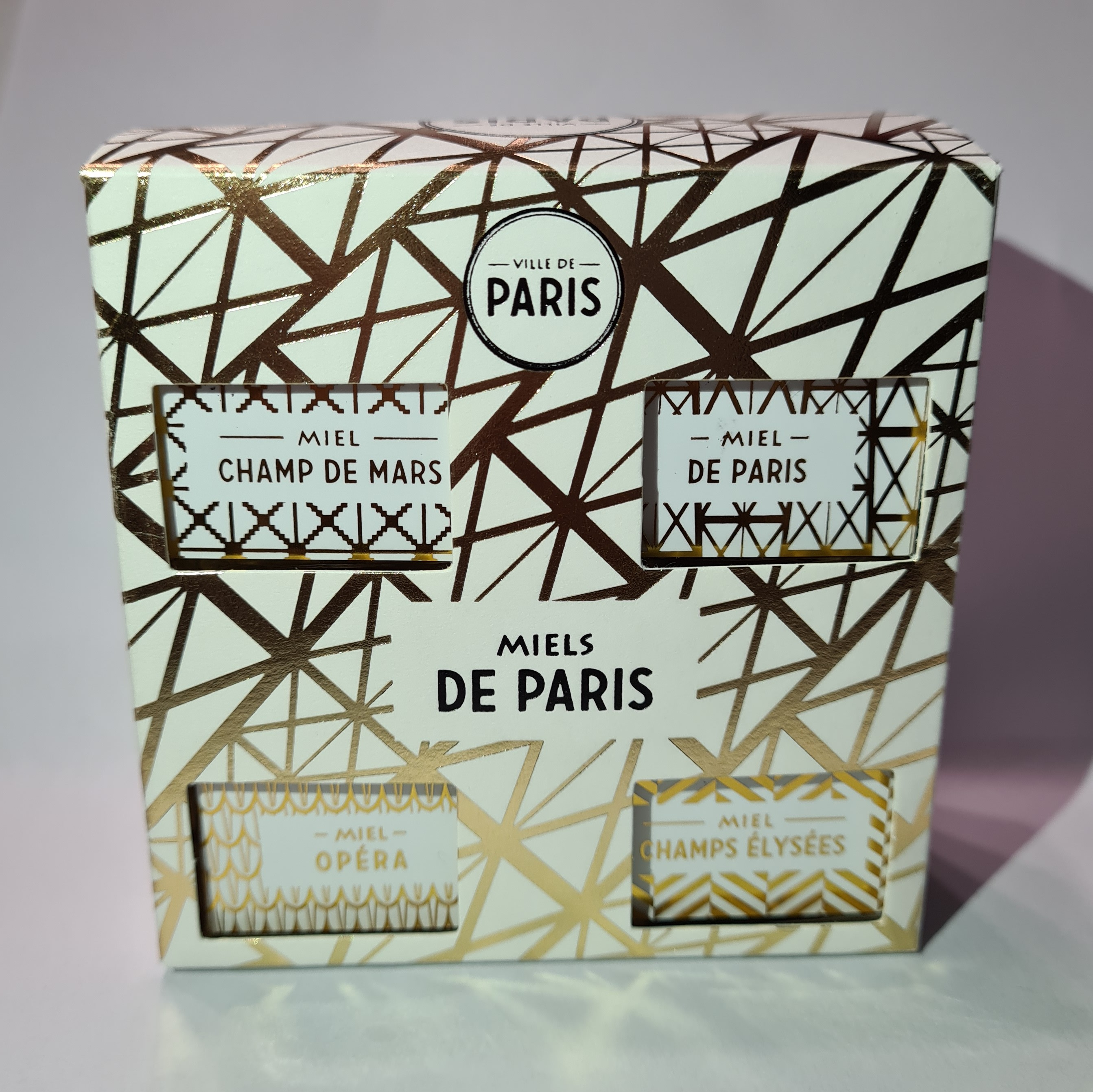 Coffret 4 miels de Paris